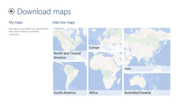 HERE Maps für Windows 10