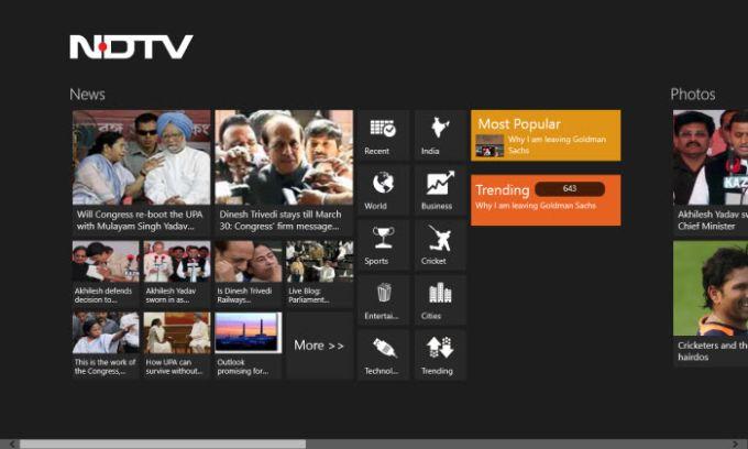 NDTV for Windows 10