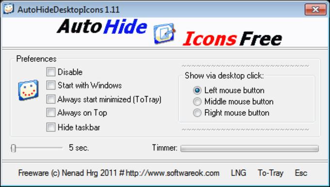 Auto Hide Icons