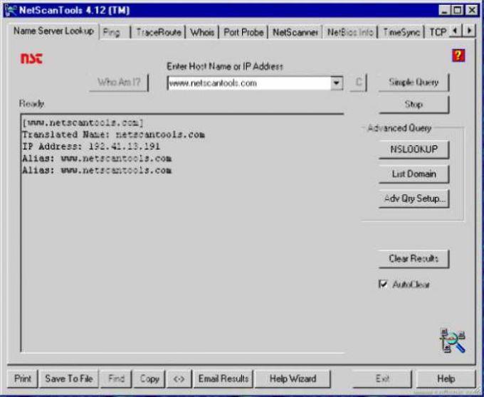 NetScanTools