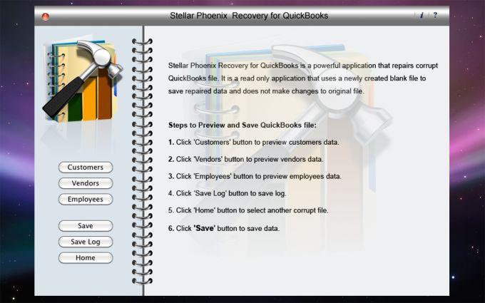 Stellar Phoenix Recovery for QuickBooks Mac
