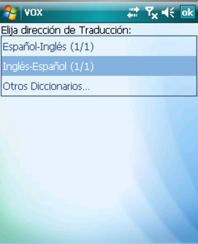 Talking VOX English-Spanish and Spanish-English dictionary