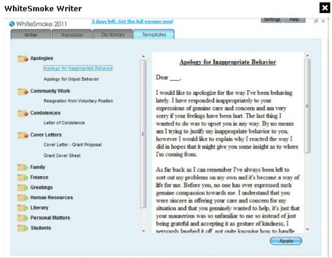 WhiteSmoke Writer Business