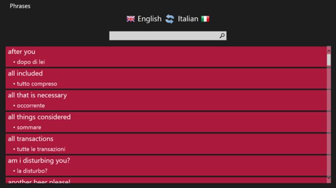 Inglese - Italiano