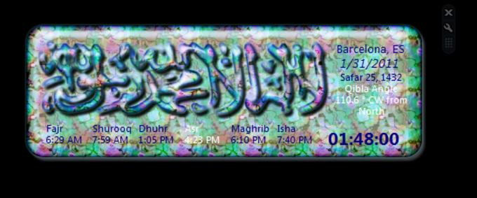 Las horas de oración islámicas en tu barra lateral de Windows
