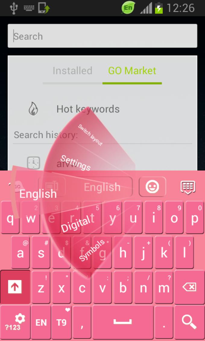 Keyboard Theme Pink Free