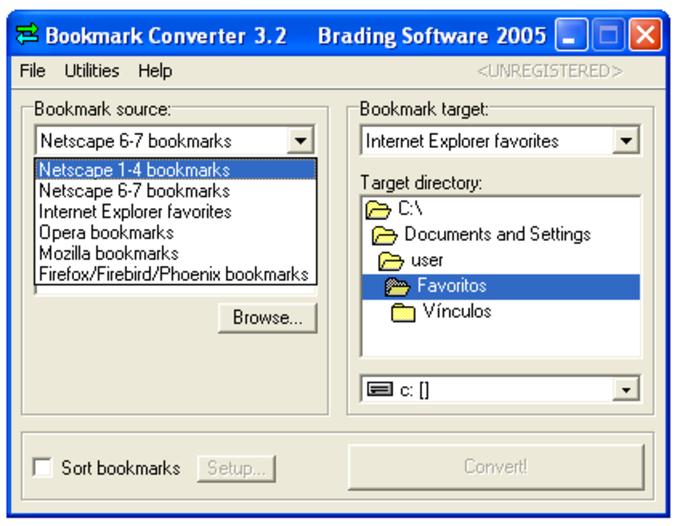 Bookmark Converter