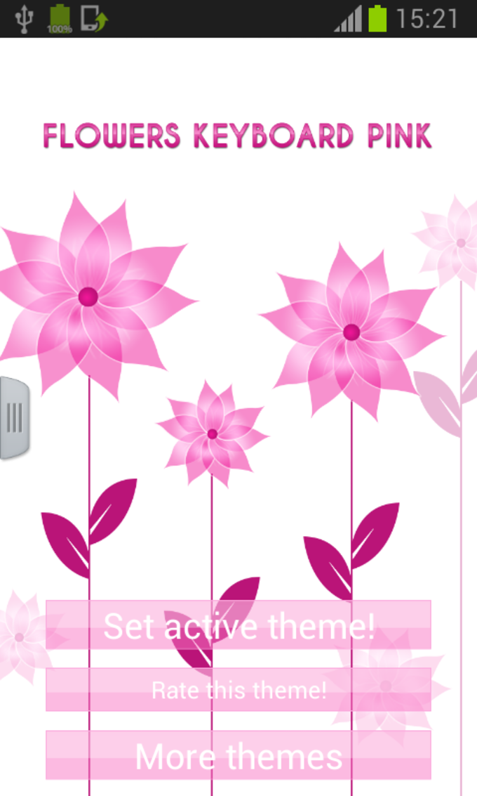 Flowers Keyboard Pink