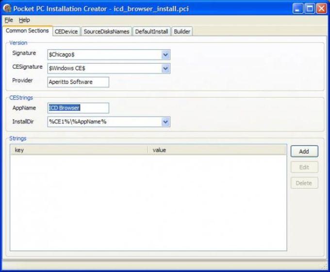Pocket PC Installation Creator