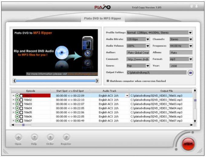 Plato DVD To MP3 Ripper