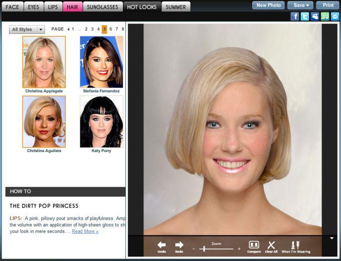 Modificare colore capelli foto online gratis