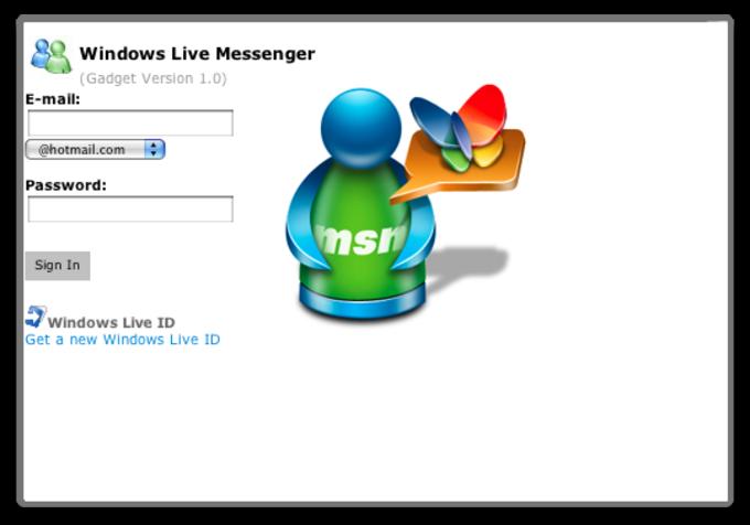 Windows Live Messenger Widget