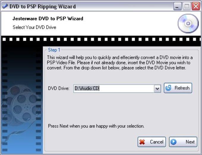 Jesterware DVD to PSP