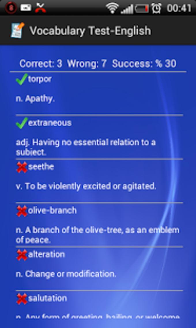 Vocabulary Test-English