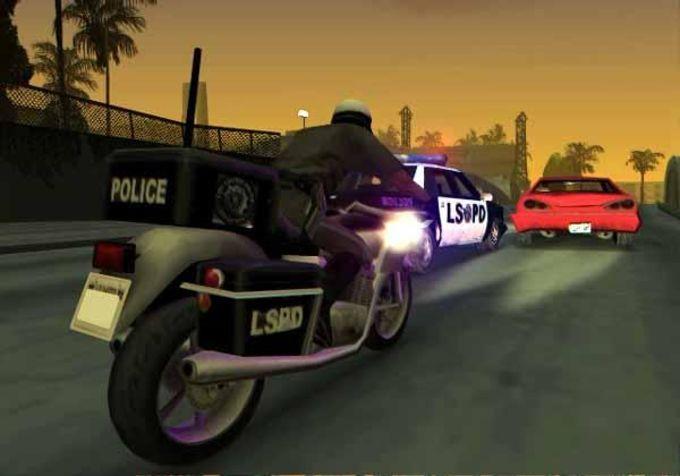 GTA San Andreas tem perseguições policiais