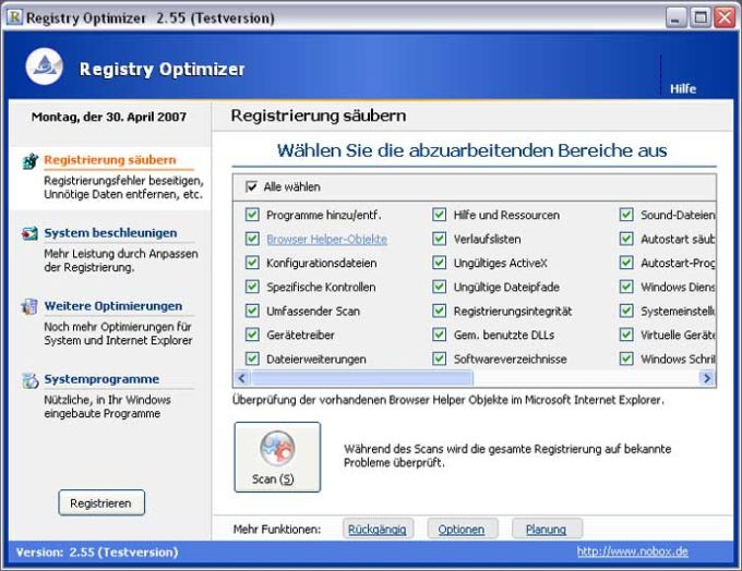 Registry Optimizer