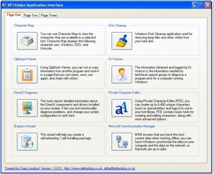 XP Hidden Application Interface