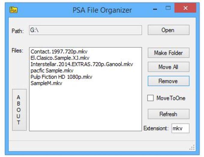 PSA File Organizer