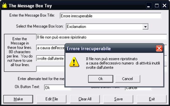 Message Box Toy