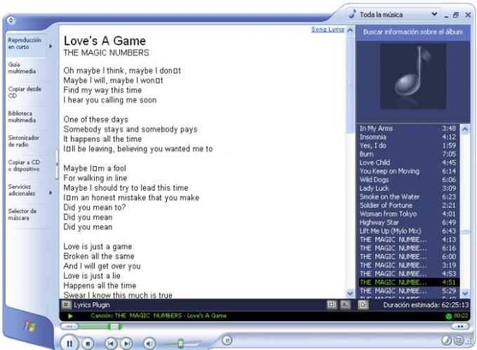 Lyrics Plugin for Windows Media Player
