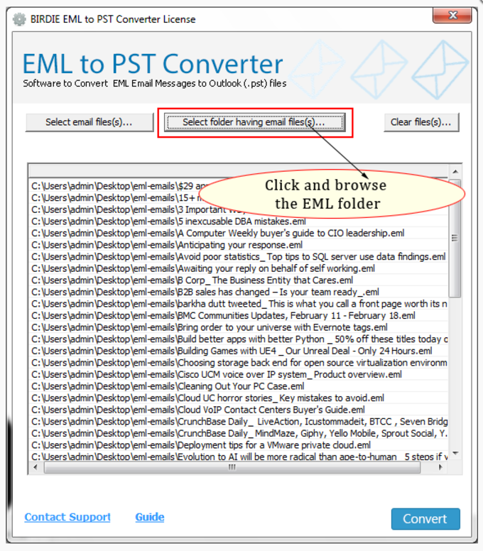 Incredia EML to PST Converter