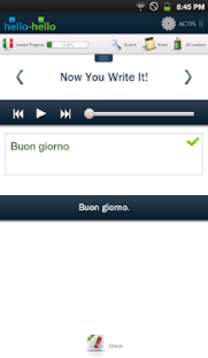 Hello-Hello Italiano (Tableta)