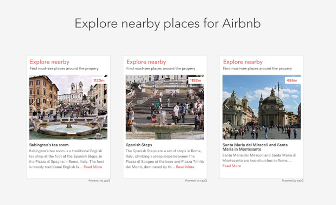 Explore nearby places for Airbnb