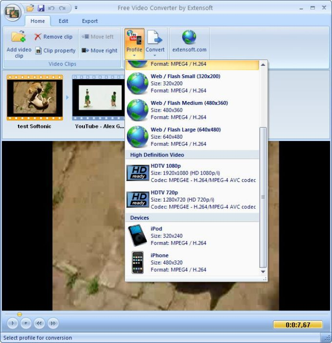 Extensoft Free Video Converter