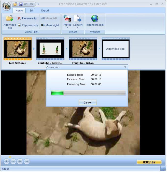Extensoft Free Video Converter