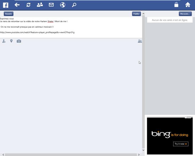 Facebook Touch pour Windows 10