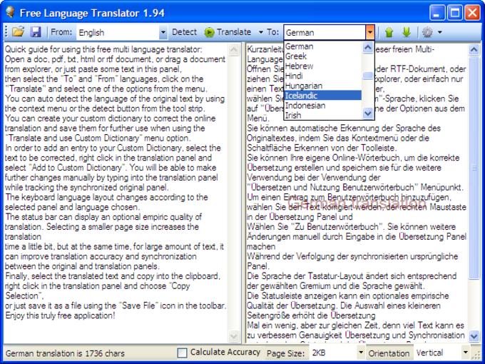 Free Language Translator