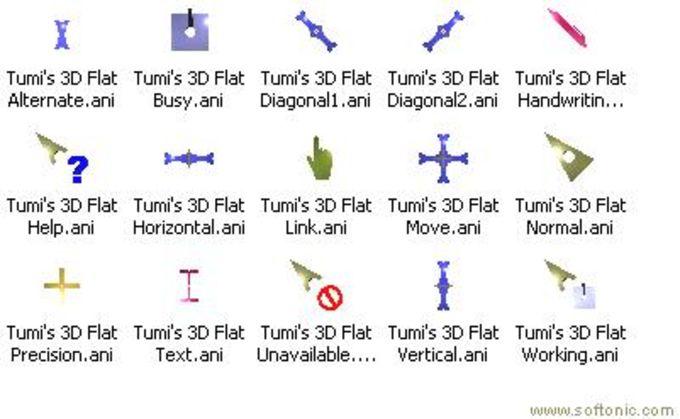 Tumi's 3D Flat Cursor Set