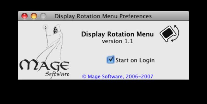 Display Rotation Menu