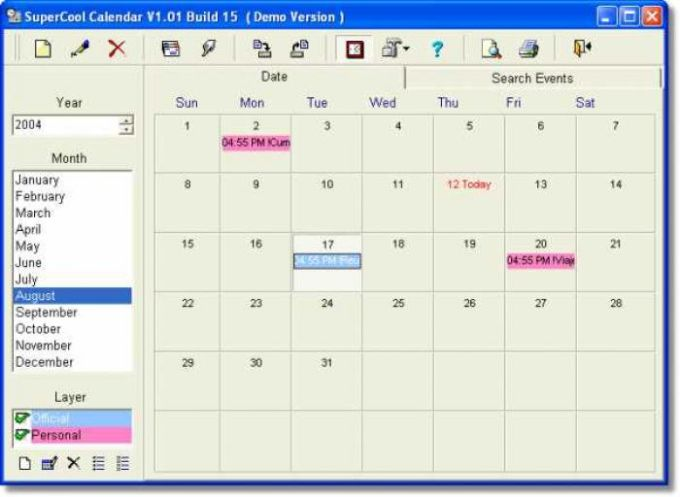 SuperCool Calendar