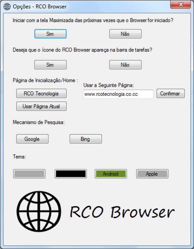 RCO Browser