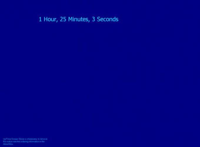 UpTime Screen Saver