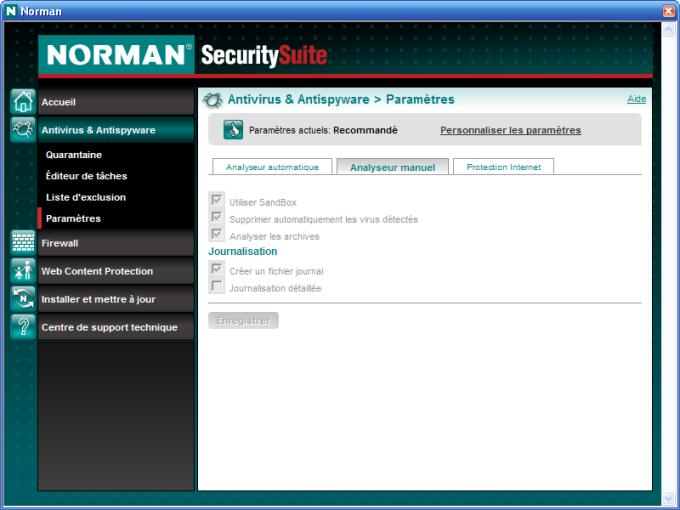 Norman Antivirus et Antispyware