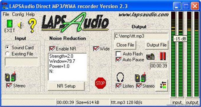LAPSAudio's MP3 / WMA Recorder
