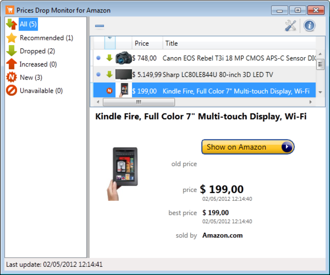 Prices Drop Monitor for Amazon
