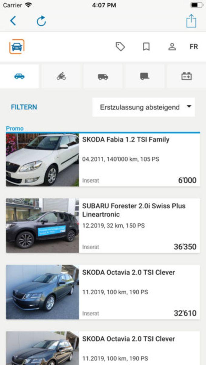 autoricardo.ch - Fahrzeugmarkt
