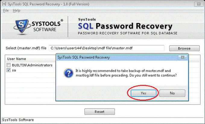 SQL Password Recovery Free Tool