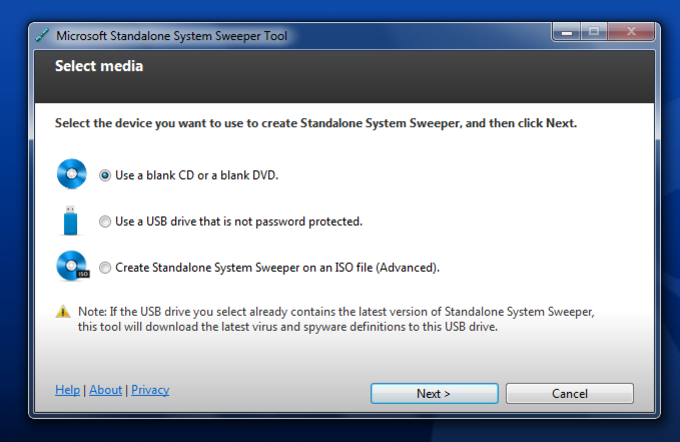Microsoft Standalone System Sweeper