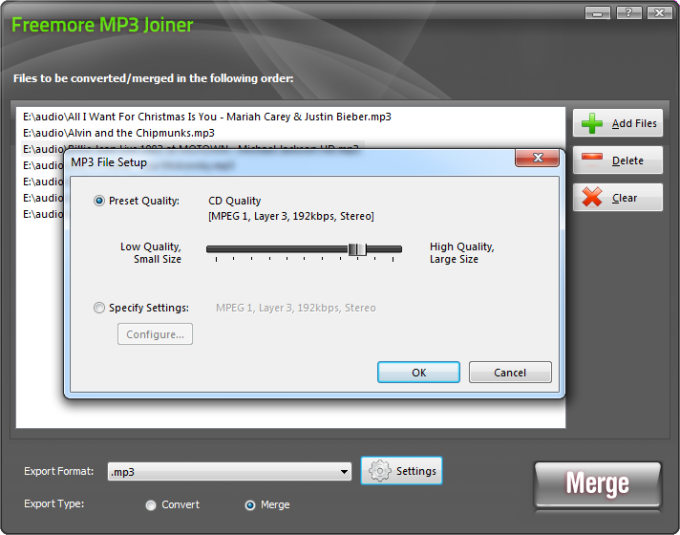 Freemore MP3 Joiner