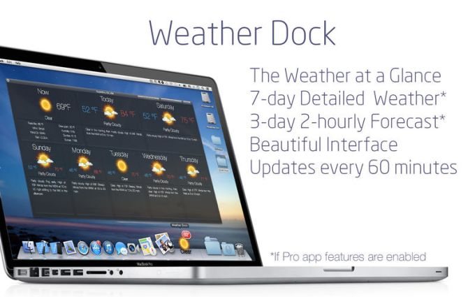 Weather Dock: Accurate desktop forecast report