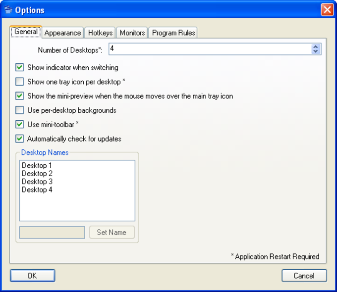 Vista XP Virtual Desktop Manager