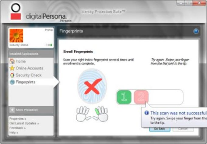HP DigitalPersona Fingerprint Reader Software