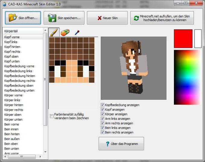 Minecraft Spielen Deutsch Minecraft Skins Kostenlos Downloaden - Skins fur minecraft selber erstellen