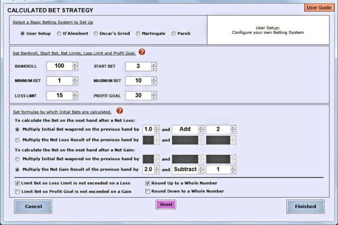 Blackjack Bet and Play Simulator