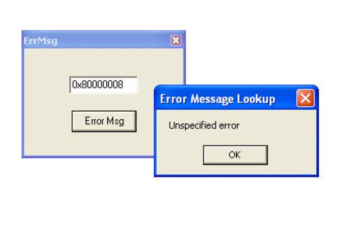 Windows Error Code Lookup Tool