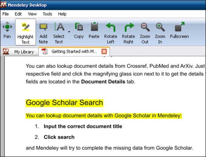 Mendeley Desktop